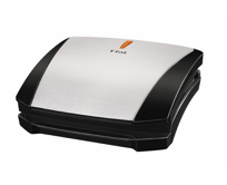 4-Burger Curved Grill with Non-Stick Plates